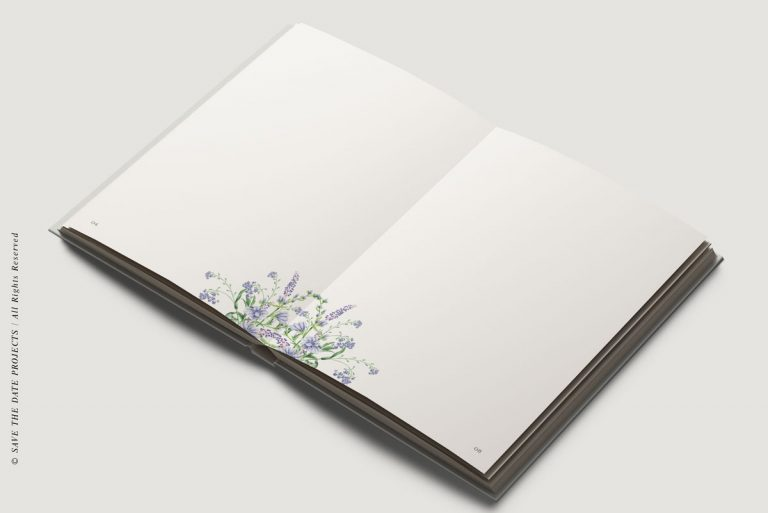 Libros de firmas personalizadas hojas interiores botanica diagon