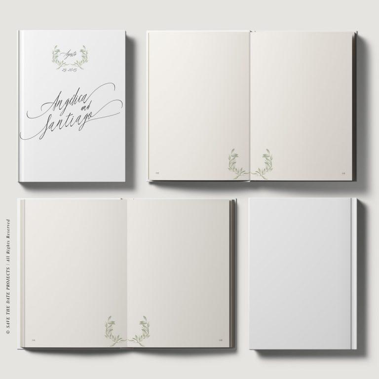 Libros de firmas personalizados boda olivos