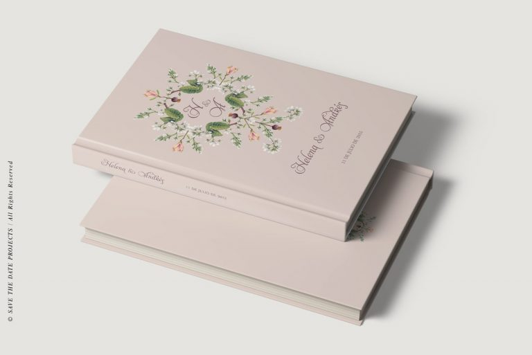 Libros de firmas personalizados bodas clasico