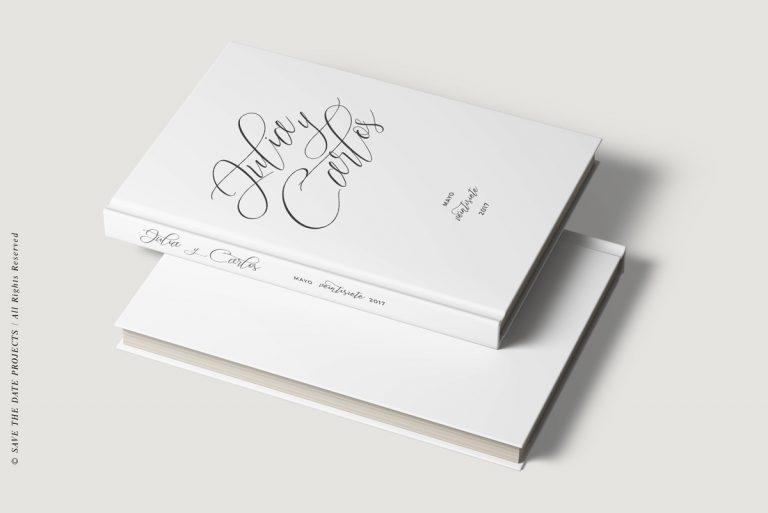 Libros de firmas personalizados bodas lettering