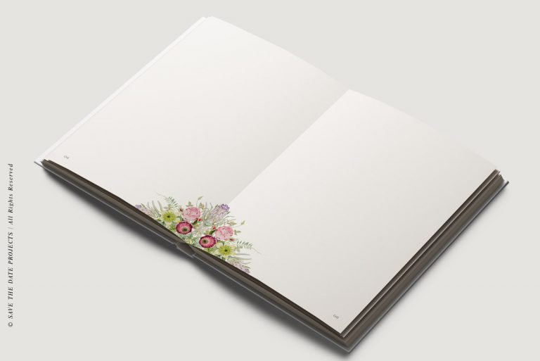 Libros de firmas personalizados interiores campestre