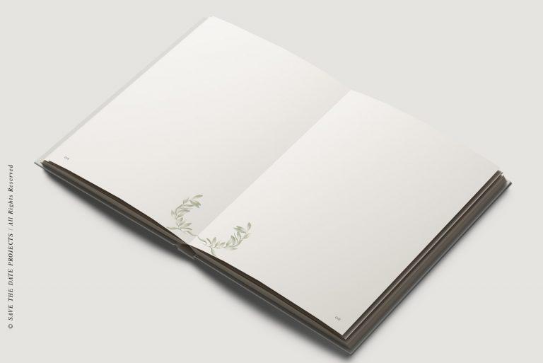 Libros de firmas personalizados interiores olivos