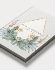 Libros de firmas personalizados portada cactus diagonal