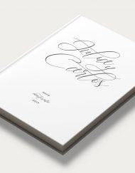 Libros de firmas personalizados portada caligrafia diagonal