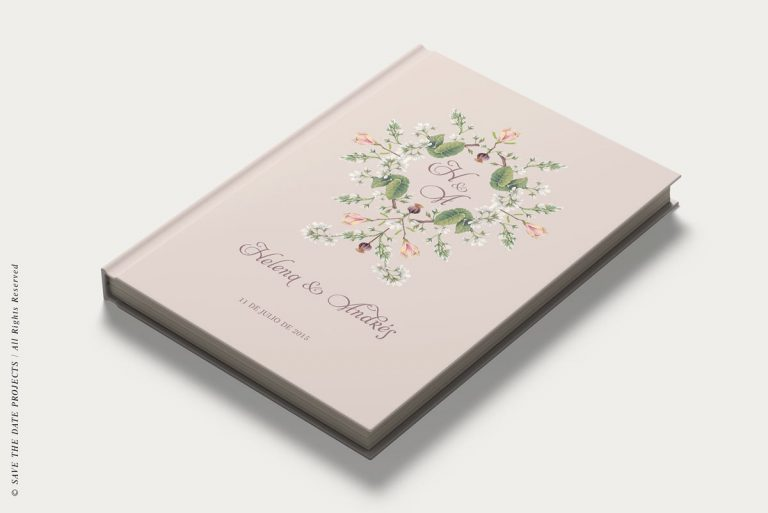 Libros de firmas personalizados portada clasico diagonal