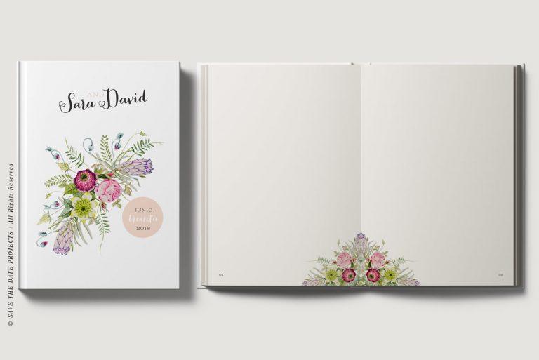 Libros de firmas personalizados portada e interiores campestre