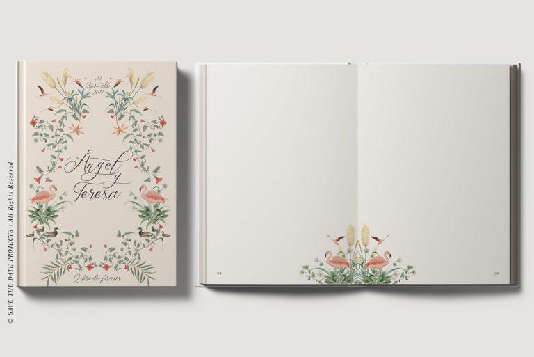 Libros de firmas personalizados portada e interiores donana