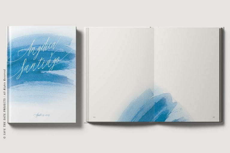 Libros de firmas personalizados portada e interiores mar