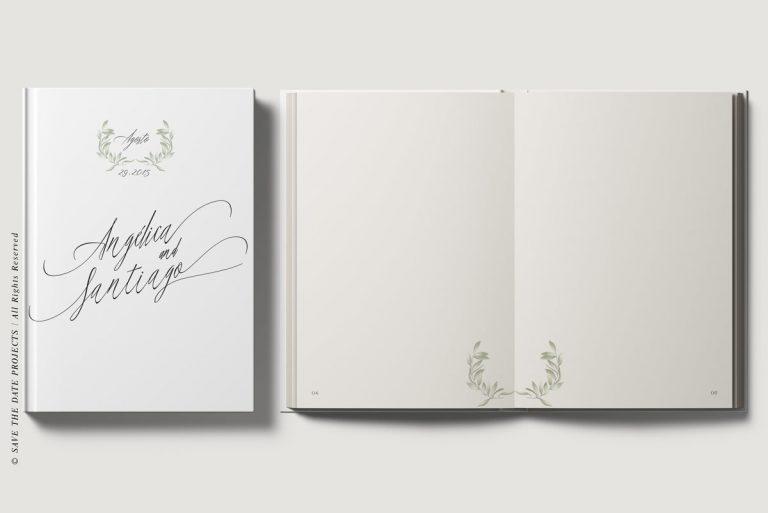 Libros de firmas testigos personalizados portada e interiores olivos
