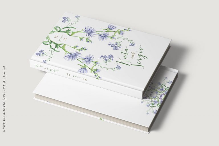 Libros de testigos personalizados Portada y contraportada botanica I