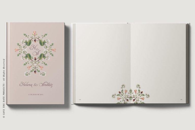 Libros de testigos personalizados portada e interiores clasica