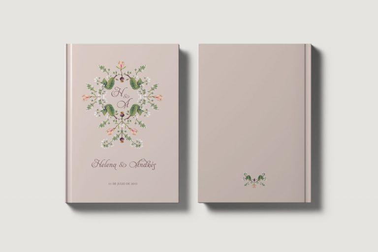 Libros de testigos personalizados portada y contraportada clasico