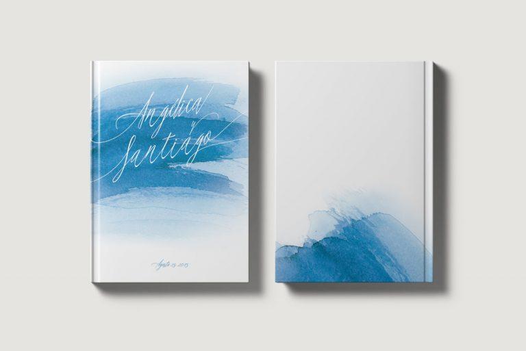 Libros de testigos personalizados portada y contraportada mar