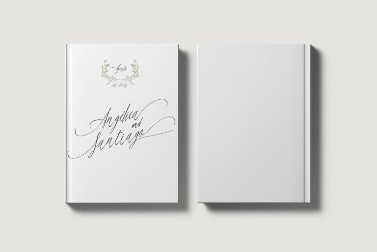 Libros de testigos personalizados portada y contraportada olivos