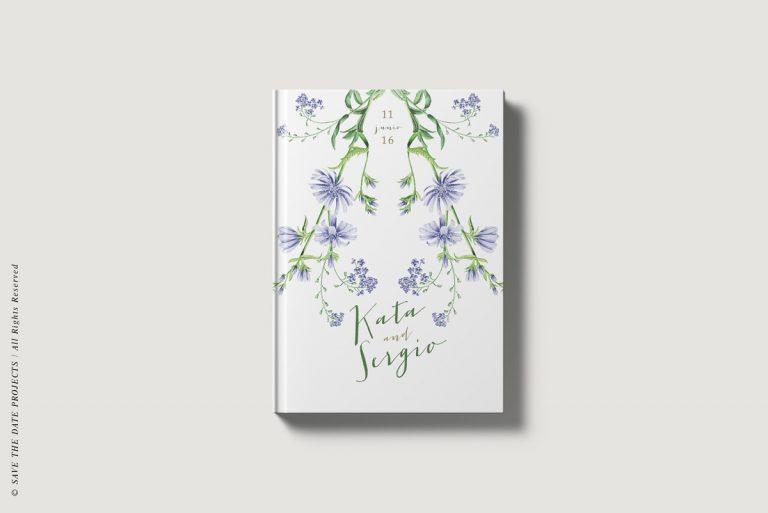 Portada libro de firmas bodas botanicas I