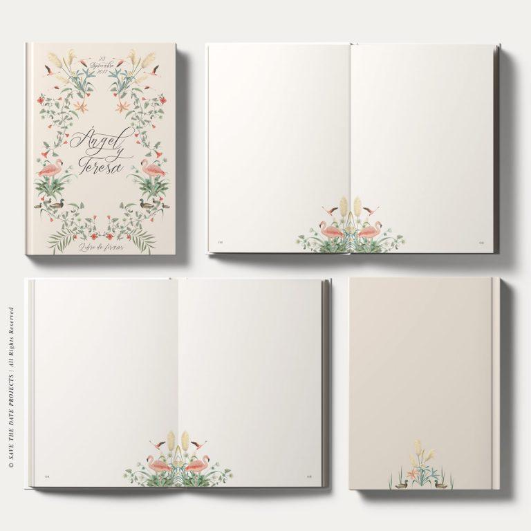 libro de firmas boda personalizado corona nude donana vista completa