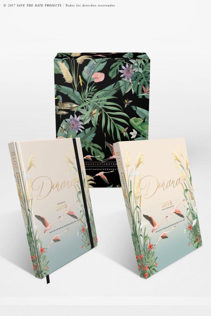 1-caja-de-regalo-con-ilustraciones-botanicas-flamencos-palmeras-tropical-donana