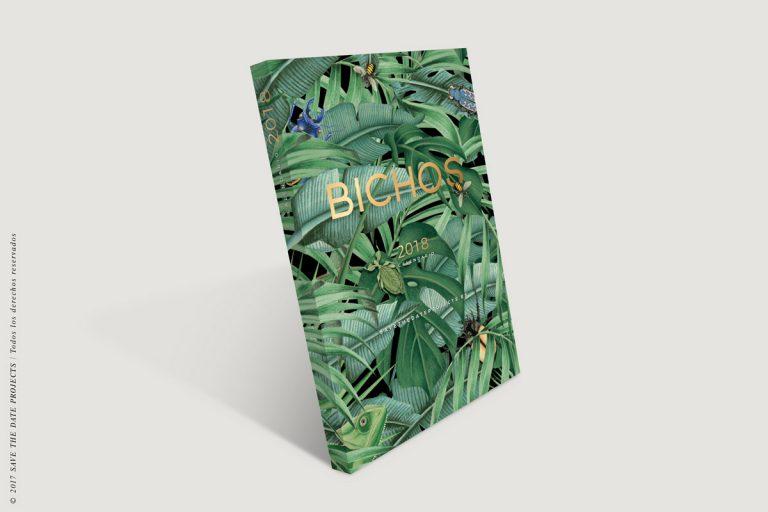 calendario-2018-bichos-con-helechos-bloc-de-notas-soporte-de-laminas-botanicas-con-abejas-anv