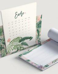 calendario-2018-selva-tropical-rosa-con-plataneras-bloc-de-notas-soporte-de-laminas-botanicas-4