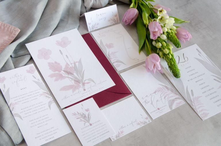 Branding de boda - Papeleria con el mismo sentido estetico