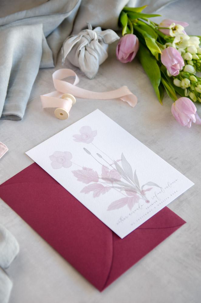 Invitaciones de boda originales romanticas gris rosa-11