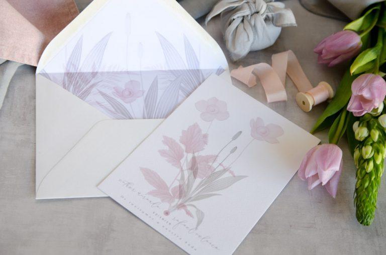 Invitaciones de boda originales romanticas gris rosa-112