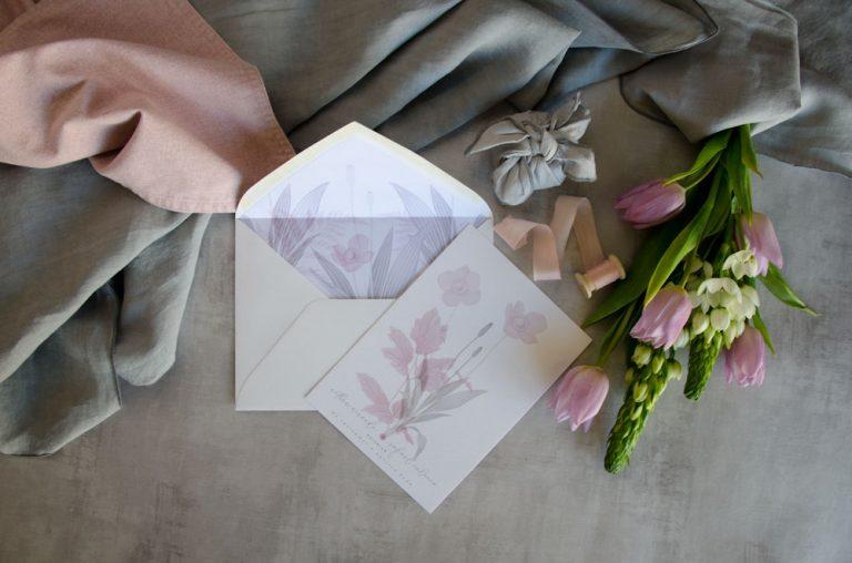 Invitaciones de boda originales romanticas gris rosa-114