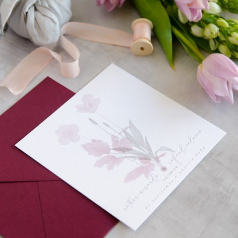 Invitaciones de boda originales romanticas gris rosa-134