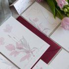 Invitaciones de boda originales romanticas gris rosa-151