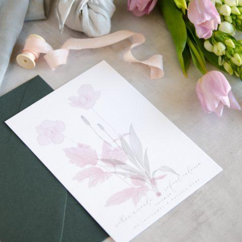 Invitaciones de boda originales romanticas gris rosa-66