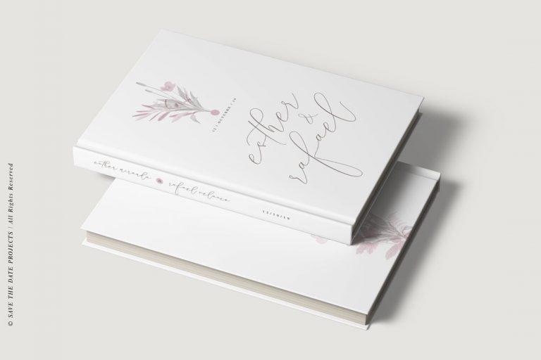 Libro de invitados boda amapola ramo 2