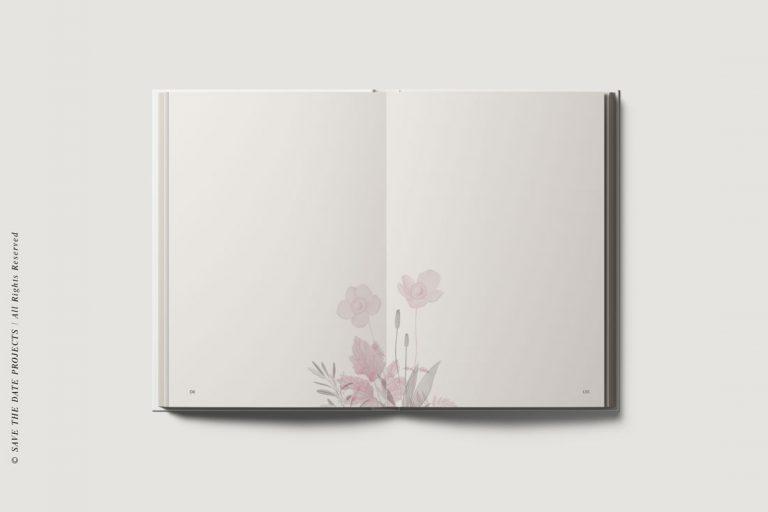Libro de invitados boda amapola ramo -interiores