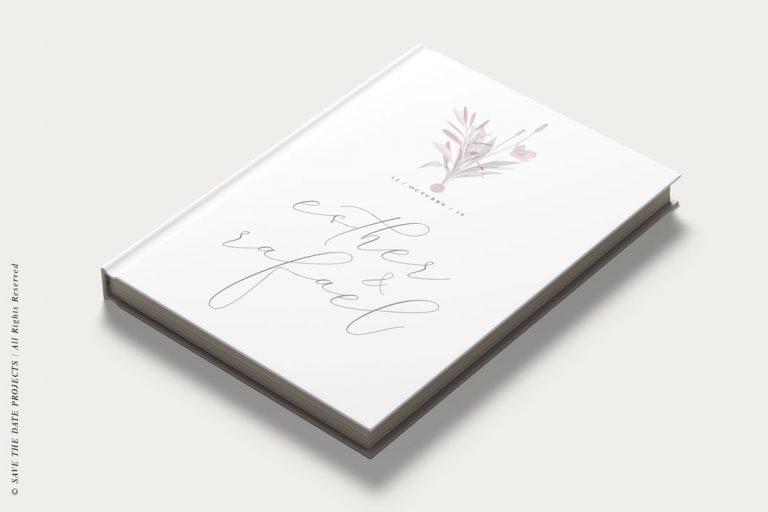 Libro de invitados boda amapola ramo obl