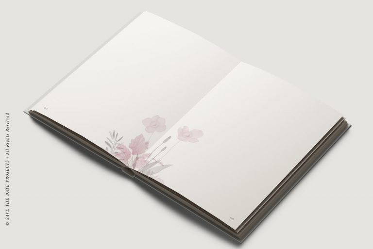 Libro de invitados boda amapola ramo obl inter