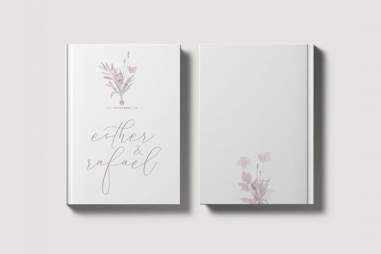 Libro de invitados boda amapola ramo port y contraport