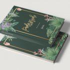 Libros de firmas personalizados bodas selva oscura