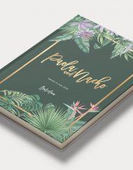 Libros de firmas personalizados portada tropical diagonal