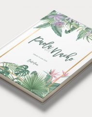 Libros de firmas tropicales bodas portada save the date projects