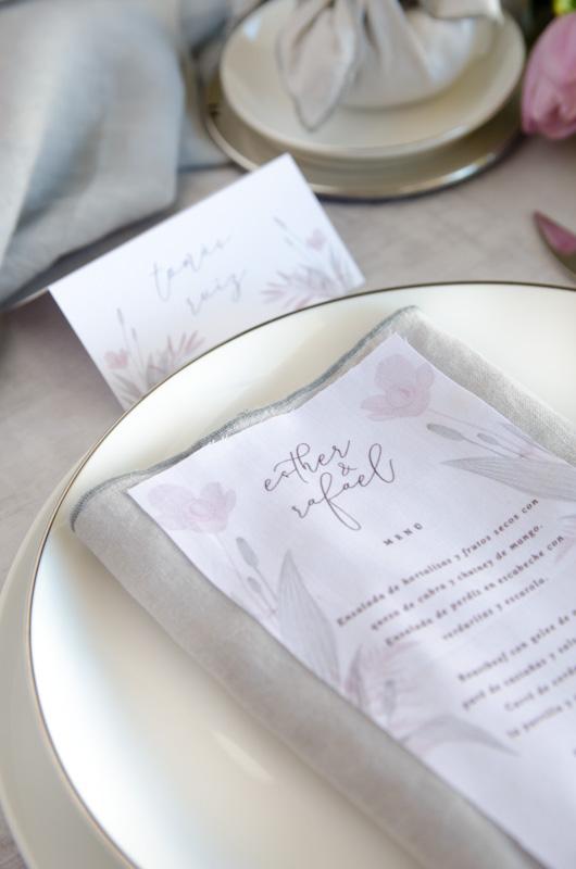 Minutas de boda en tela personalizadas Save the date projects 2