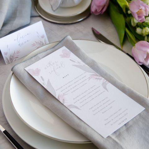 Minutas de boda personalizadas gris rosa-16