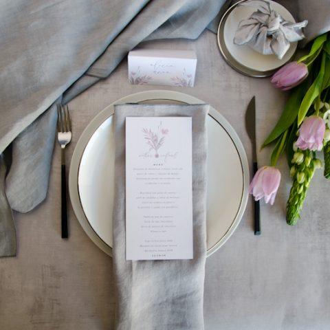 Minutas de boda personalizadas gris rosa-22