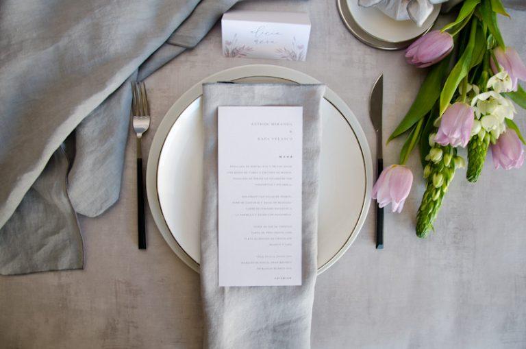 Minutas de boda personalizadas gris rosa-24