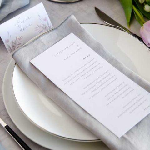 Minutas de boda personalizadas gris rosa-25
