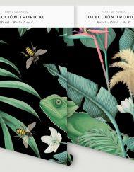 papel-pintado-tropical-fondo-negro-con-flamencos-MURAL-rollos