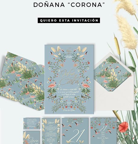 Invitación Corona flores Doñana