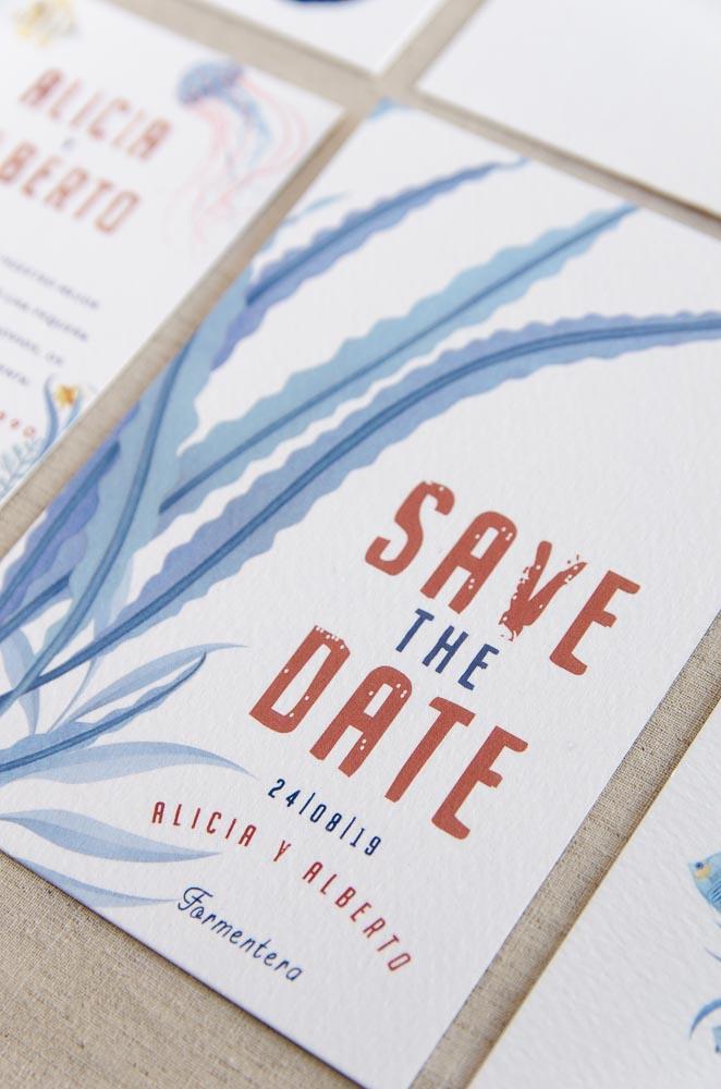 Invitaciones de boda originales playa mar peces-0054