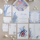 Invitaciones de boda originales playa mar peces-0066