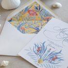 Invitaciones de boda originales playa mar peces-9622