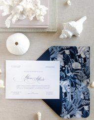 Invitaciones de boda originales playa mar peces-9764