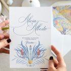 Invitaciones de boda originales playa mar peces-9819
